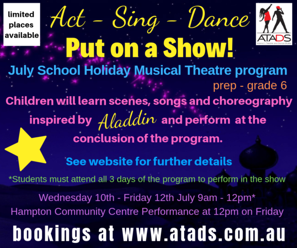 July School Holiday Musical Theatre Workshop and Performance