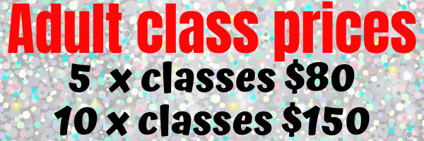 adult class prices