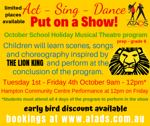 OCT School Holiday Musical Theatre Program