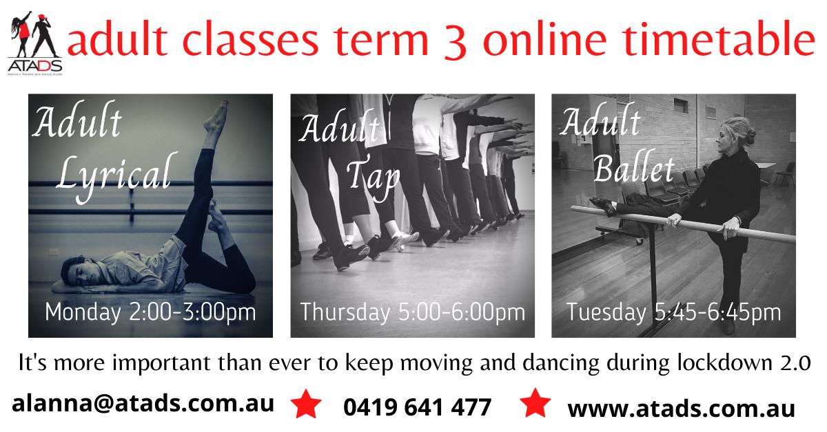 adult classes t3 online